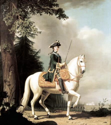 Equestrian Portrait of Catherine II the Great of Russia by Vigilius Eriksen