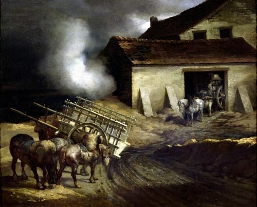 The Kiln at the Plaster Works by Jean-Louis-André-Théodore Géricault