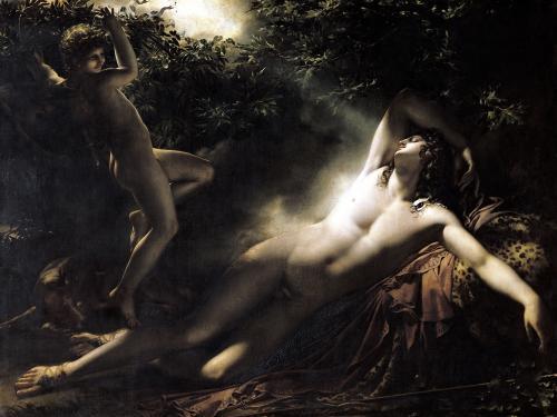 The Sleep of Endymion 1791 by Anne Louis Girodet de Roucy-Trioson