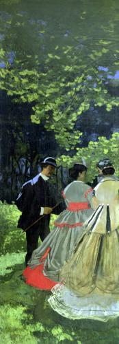 Dejeuner sur L'Herbe Chailly 1865 by Claude Monet