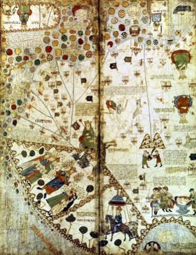 Detail from a Catalan World Map 1375 by Anonymous