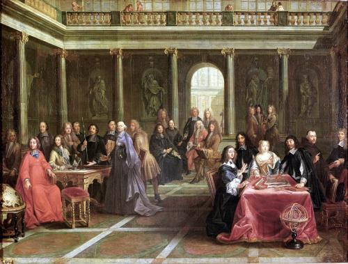 Queen Christina of Sweden surrounded by courtiers by Anonymous