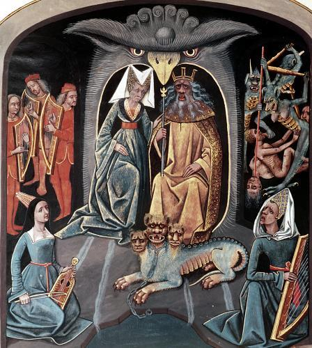 Hades and Persephone seated in the underworld on a throne by Anonymous