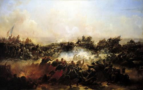 The Battle of Sebastopol by Jean Charles Langlois