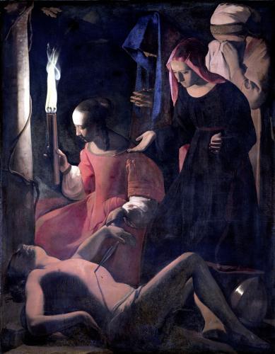 St. Sebastian Tended by St. Irene by Georges De La Tour