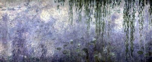 Waterlilies' Morning with Weeping Willows by Claude Monet