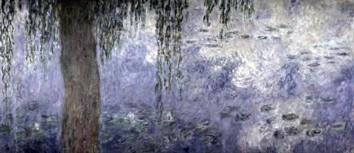 Waterlilies' Morning with Weeping Willows (right section) by Claude Monet