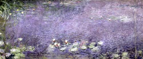 Waterlilies' Morning (left section) by Claude Monet