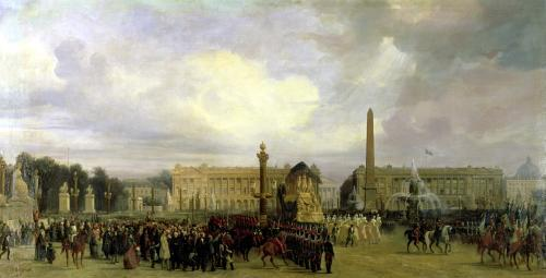 The Ceremony for the Return of Napoleon's Ashes  1840 by Jacques Guiaud
