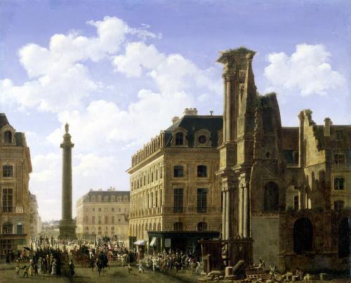 La Place Vendome 1808 by Etienne Bouhot