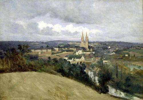 General View of the Town of Saint-Lo c.1833 by Jean-Baptiste-Camille Corot