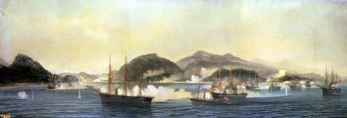 The Second Battle of Shimonoseki 1868 by Jean Baptiste Henri Durand-Brager