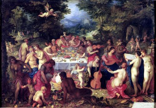 The Banquet of the Gods by Hendrik Van Balen The Elder