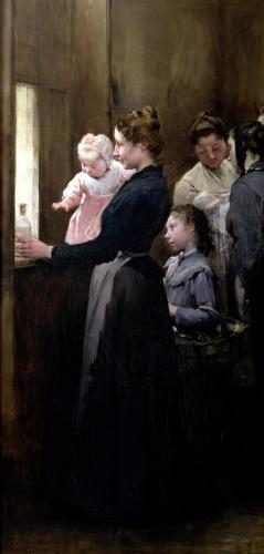 The Drop of Milk in Belleville' Doctor Variot's Surgery 1903 by Henry Jules Jean Geoffroy