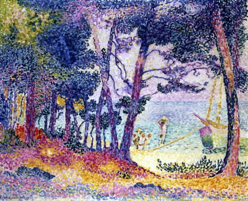 A Pine Grove 1906 by Henri-Edmond Cross