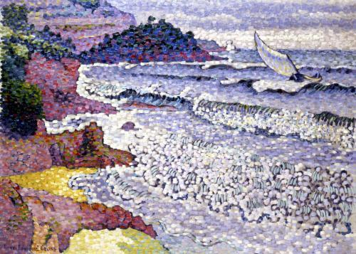 The Choppy Sea 1902 by Henri-Edmond Cross