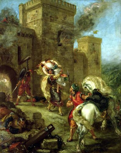 Rebecca Kidnapped by the Templar 1858 by Eugene Delacroix