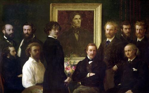 Homage to Delacroix 1864 by Ignace-Henri-Théodore Fantin-Latour