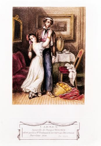 Carmen and Don Jose 1846 by Prosper Merimee