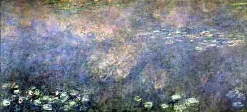 Waterlilies Two Weeping Willows (centre left section) 1914 by Claude Monet