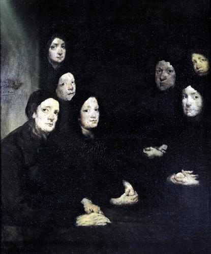The Sermon by Auguste Theodule Ribot