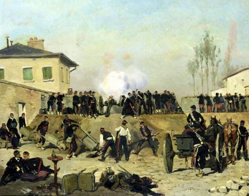 The Battle of Villejuif Siege of Paris 1870 by Jean-Baptiste Edouard Detaille