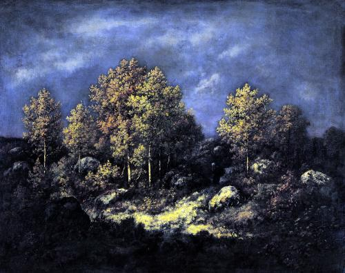 The Jean de Paris Heights in the Forest of Fontainebleau 1867 by Narcisse Virgile Diaz de la Pena