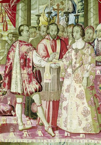 The Charles V Tapestry depicting the Marriage of Charles V by Flemish School