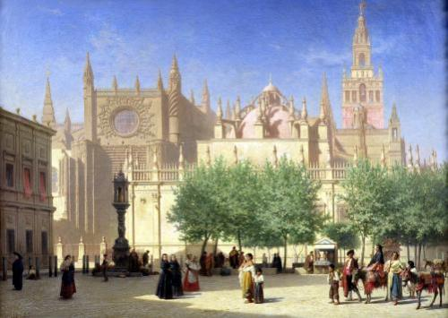 The Cathedral of Seville by Achille Zo