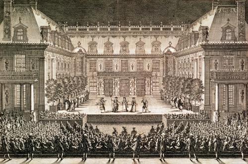 Performance of the opera 'Alceste' 1676 by French School