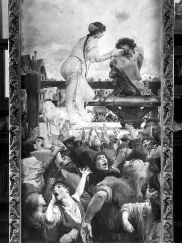Esmeralda and Quasimodo 1905 by Luc-Oliver Merson
