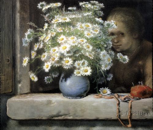 The Bouquet of Margueritas by Jean Francois Millet
