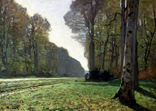 The Road to Bas-Breau Fontainebleau c.1865 by Claude Monet
