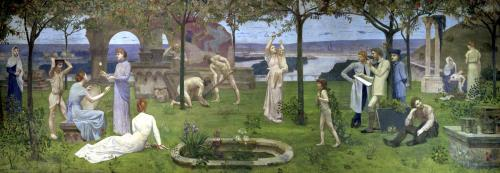 Between Art and Nature 1890 by Pierre Puvis de Chavannes