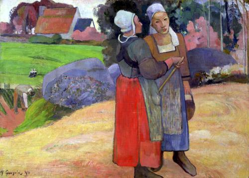 Breton Peasants 1894 by Paul Gauguin