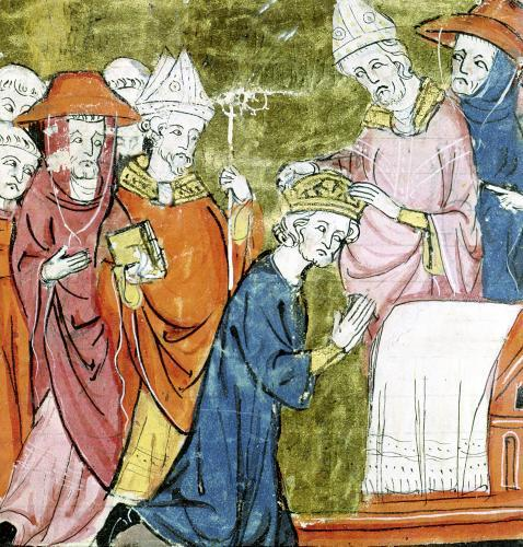 The Coronation of Emperor Charlemagne by Pope Leo III at St. Peters by French School