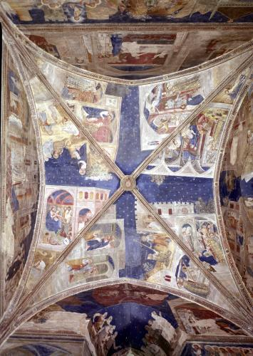 View of the ceiling of the chapel of the Tinel 1344 by Mary Cassatt