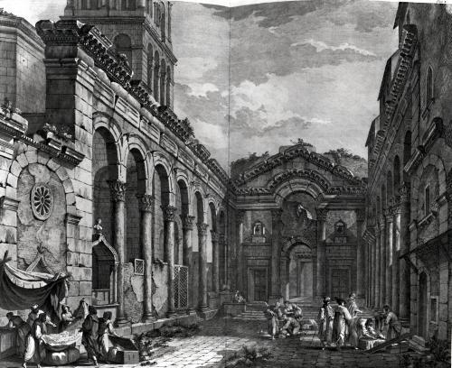 View of the peristyle of the palace of Diocletian Roman Emperor by Robert Adam
