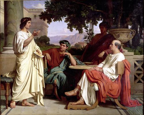 Horace Virgil and Varius at the house of Maecenas by Charles Francois Jalabert