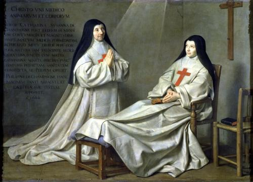 Portrait of Mother Catherine-Agnes Arnauld and Sister Catherine by Philippe de Champaigne
