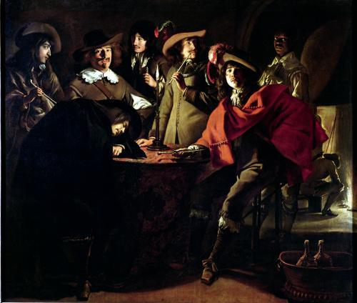 The Guards Smoking 1643 by Louis Le Nain