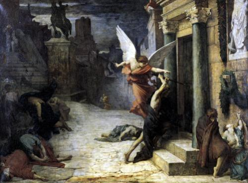 The Plague in Rome 1869 by Jules Elie Delaunay