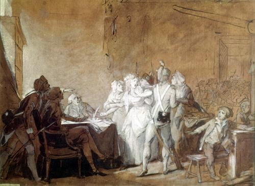 The Arrest of Charlotte Corday by Louis-Leopold Boilly
