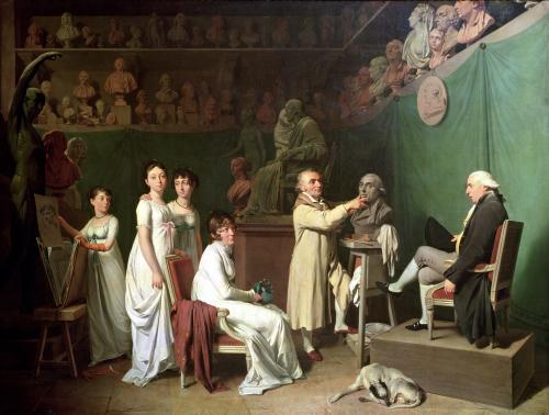Jean Antoine Houdon Sculpting the Bust of Pierre Simon by Louis-Leopold Boilly