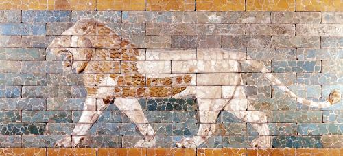 Lion representing Ishtar by Anonymous