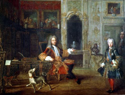 Louis XV and the Regent Philippe II Duke of Orleans c.1720 by French School