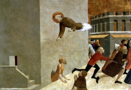 The Blessed Ranieri Rasini delivering the Poor from the Prison in Florence 1437 by Sassetta Stefano di Giovanni di Consolo