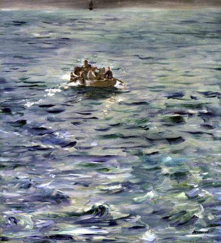 The Escape of Henri de Rochefort 1880 by Edouard Manet