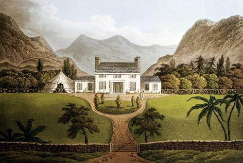 Bonaparte's Mal-Maison at St. Helena 1821 by John Hassell