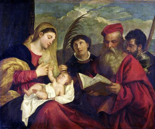 Madonna and Child (Detail) by Titian